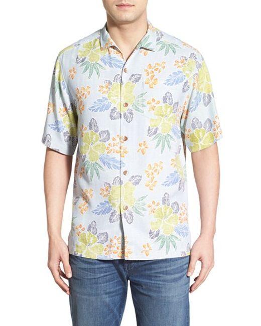 Tommy Bahama 39 Batikiki 39 Original Fit Silk Camp Shirt In