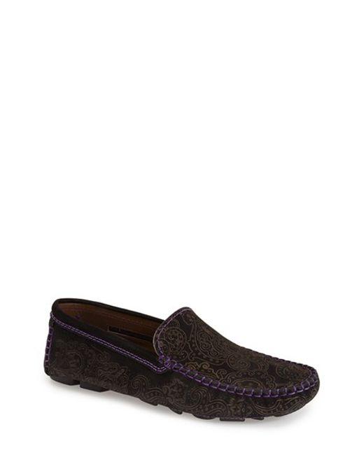 Robert Graham | Black 'verrazano' Driving Shoe for Men | Lyst