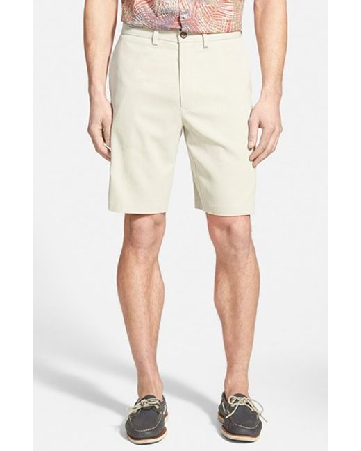 Tommy Bahama | Natural 'coastal Twill' Flat Front Shorts for Men | Lyst