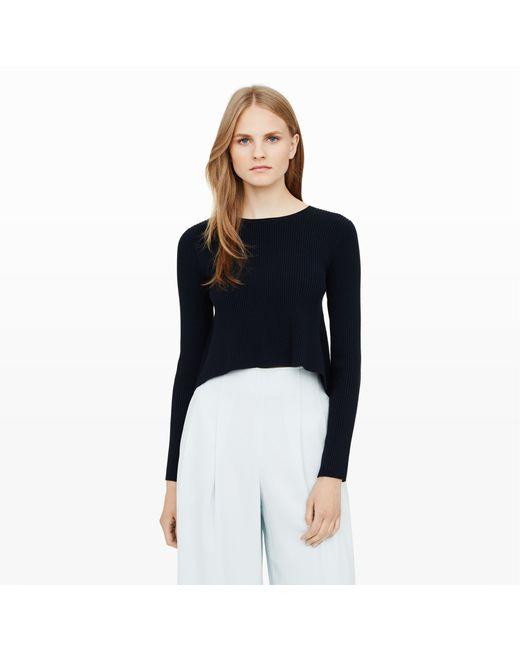 Club Monaco | Blue Zowie Ruffle Back Sweater | Lyst