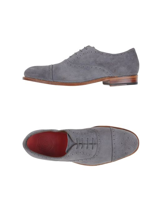 GRENSON | Gray Lace-up Shoes for Men | Lyst