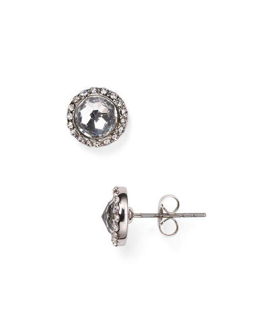 Rebecca Minkoff   Metallic Pave Halo Stud Earrings   Lyst