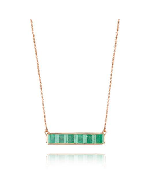 Monica Vinader | Green Baja Precious Necklace | Lyst