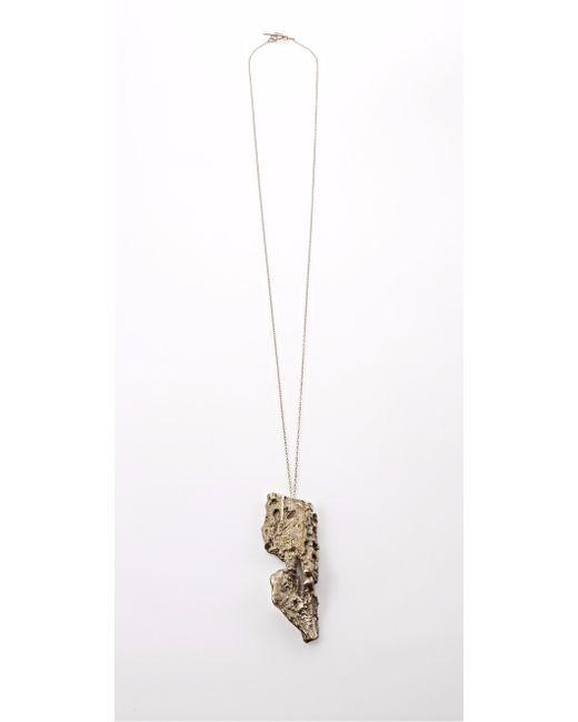 Noritamy   Metallic Baru Gold Pendant Necklace   Lyst