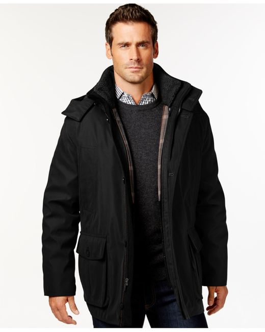 London Fog | Black Men's Big & Tall Micro-fiber Parka for Men | Lyst