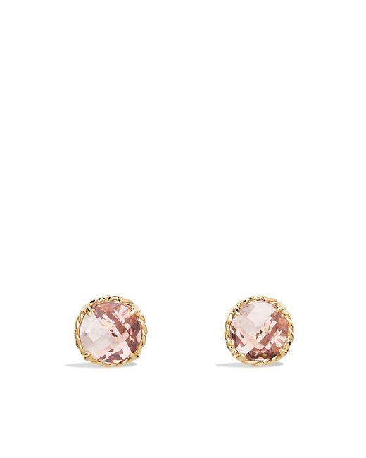David Yurman | Metallic Chatelaine Earrings With Morganite In 18k Gold | Lyst