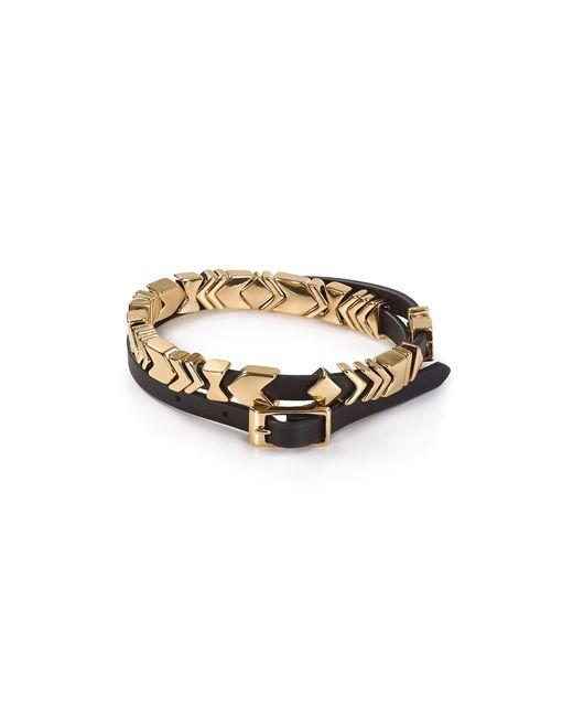 House of Harlow 1960 | Black Aztec Leather Wrap Bracelet | Lyst