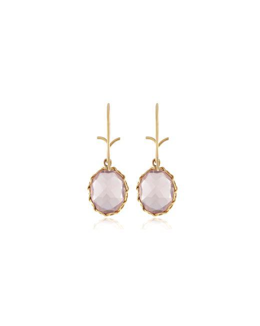 Dean Harris | Pink Quartz Faceted Oval Earrings | Lyst