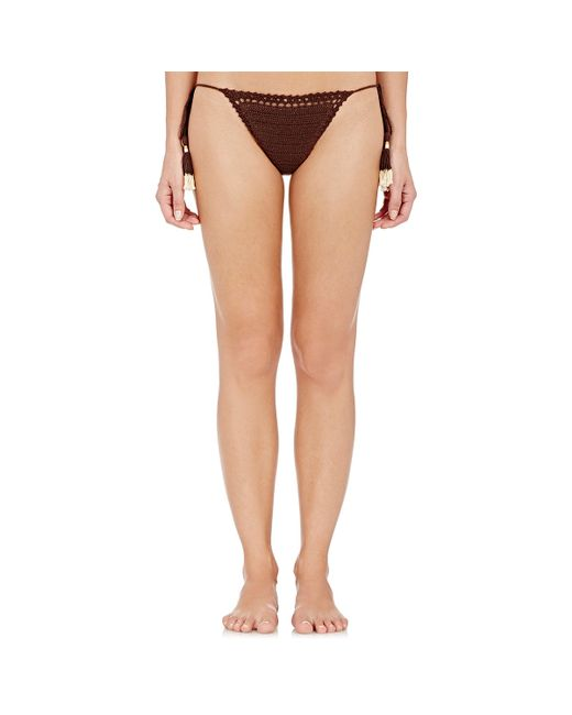 She Made Me | Brown Crochet Brazilian Bikini Bottom | Lyst