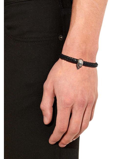 Alexander McQueen | Black Skulls Bracelet for Men | Lyst