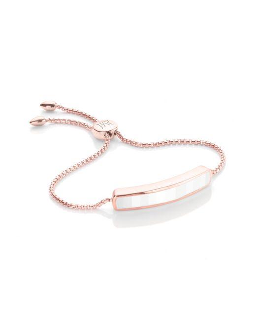 Monica Vinader | White Esencia Scatter Friendship Bracelet | Lyst