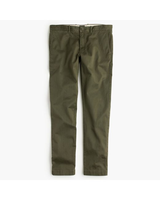 J.Crew | Green Stretch Chino In 484 Fit for Men | Lyst