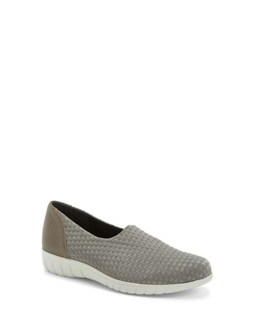 Munro | Gray 'Cruise' Woven Slip-On Sneaker | Lyst