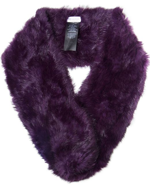 Yves Salomon | Purple Fur Scarf | Lyst