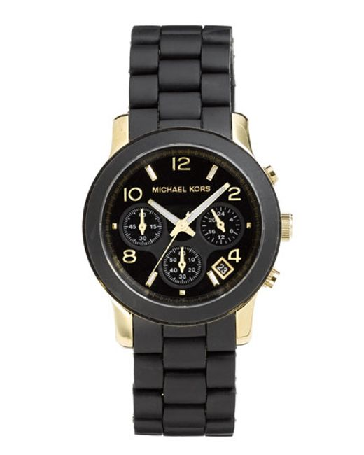 MICHAEL Michael Kors | Black Michael Kors 'runway' Chronograph Watch | Lyst
