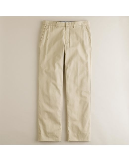 J.Crew   Natural Bowery Classic Pant In Cotton Twill for Men   Lyst