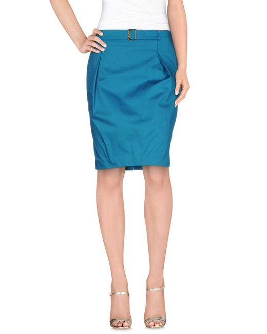 Liu Jo | Green Knee Length Skirt | Lyst