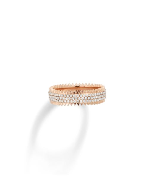 Eva Fehren | Pink Triple Zipper Ring | Lyst