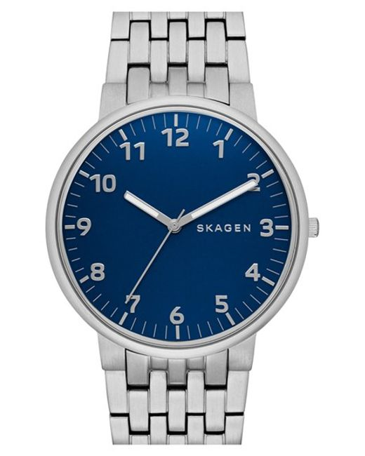 Skagen | Metallic 'ancher' Bracelet Watch for Men | Lyst