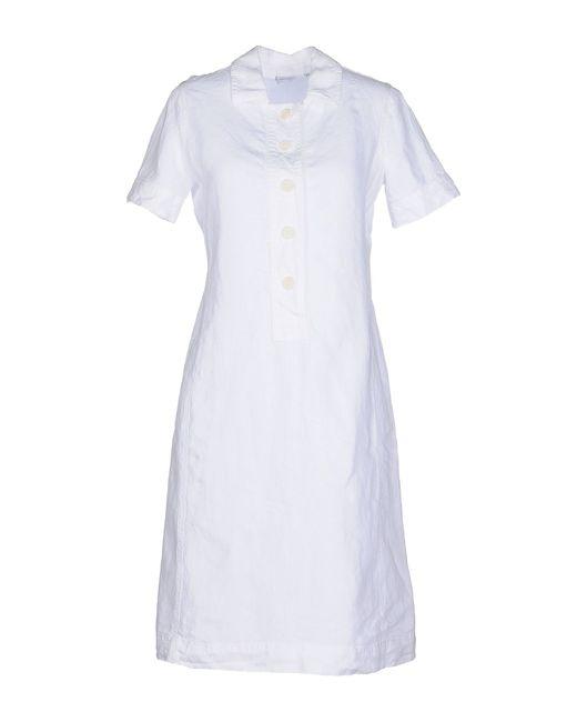 Aspesi | White Short Dress | Lyst