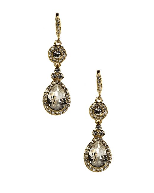 Givenchy | Metallic Crystal Drop Earrings | Lyst