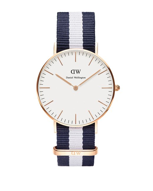 daniel wellington glasgow nato strap watch in multicolor. Black Bedroom Furniture Sets. Home Design Ideas