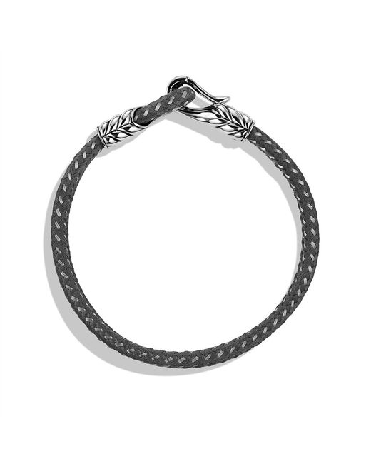 David Yurman | Chevron Tworow Bracelet in Gray for Men | Lyst