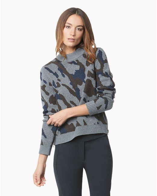 Veronica Beard | Green Rancho Hooded Sweater | Lyst