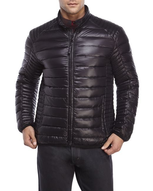 Marc New York | Black Packable Down Moto Jacket for Men | Lyst