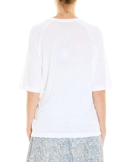 Markus Lupfer Daisy Lip T Shirt In Black Lyst