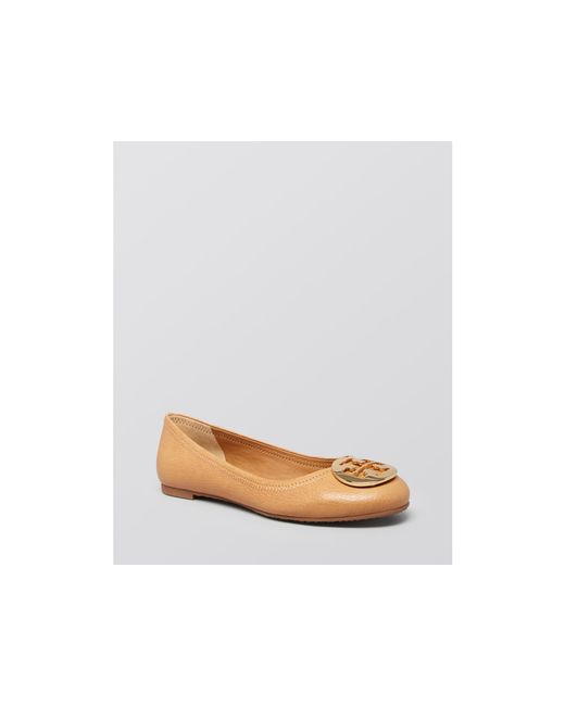 Tory Burch | Brown 'reva' Ballerinas | Lyst