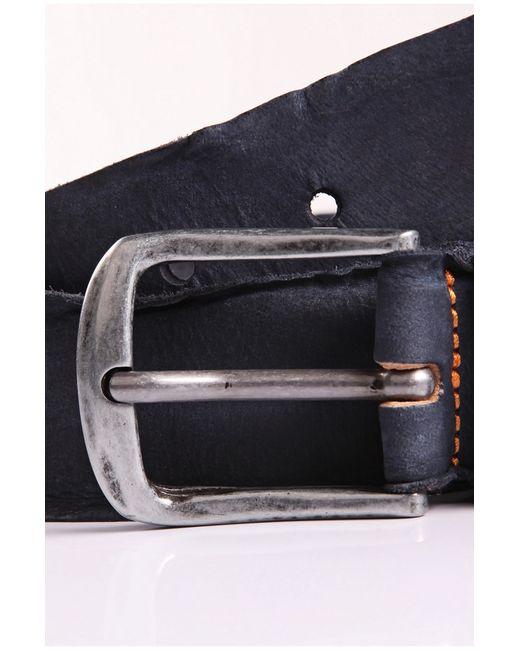 BOSS Orange | Blue Belt In Washed Leather: 'biboly' for Men | Lyst