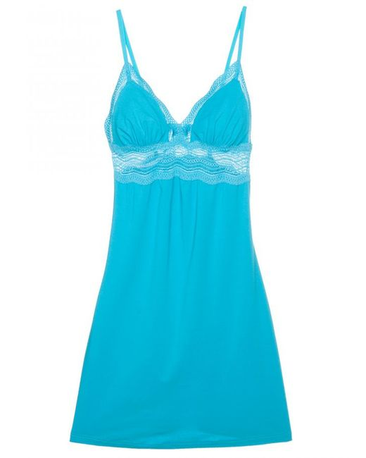 Cosabella | Blue Dolce Cotton Cup Babydoll | Lyst