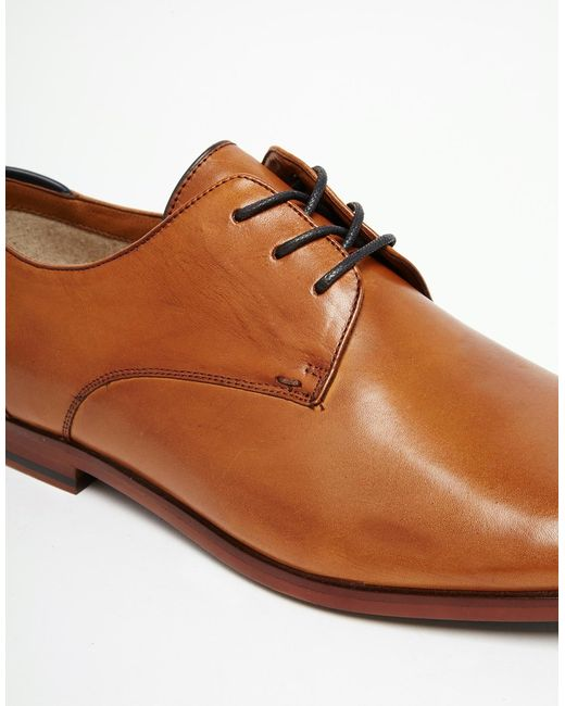 Aldo Hermosthere Leather Derby Shoes In Brown For Men Tan