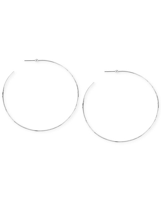 Robert Lee Morris | Metallic Silver-tone Large Hammered Wire Hoop Earrings | Lyst