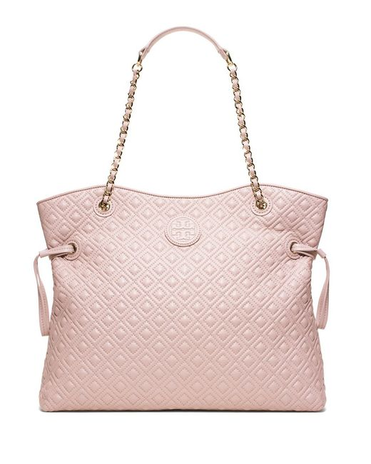 Tory Burch   Brown Marion Quilted Slouchy Tote   Lyst