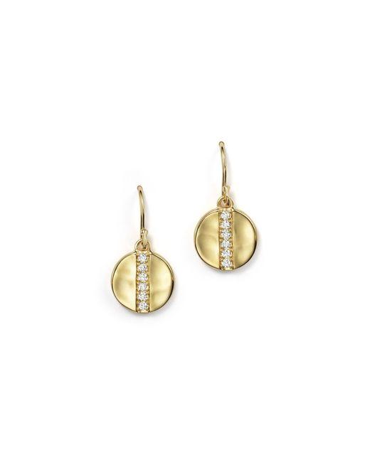 Ippolita | Metallic 18k Gold Glamazon Stardust Small Disc Earrings With Diamonds | Lyst