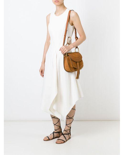 chloe leather bags - Chlo�� Hudson Small Suede Shoulder Bag in Brown | Lyst
