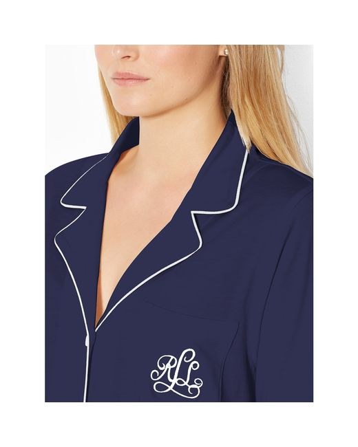 Pink Pony | Blue Cotton Jersey Sleep Shirt | Lyst