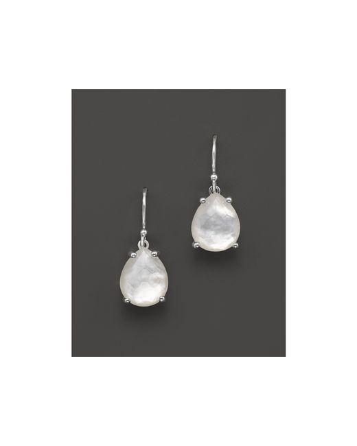 Ippolita | White Sterling Silver & Mother-of-pearl Rock Candy® Pear Drop Earrings | Lyst