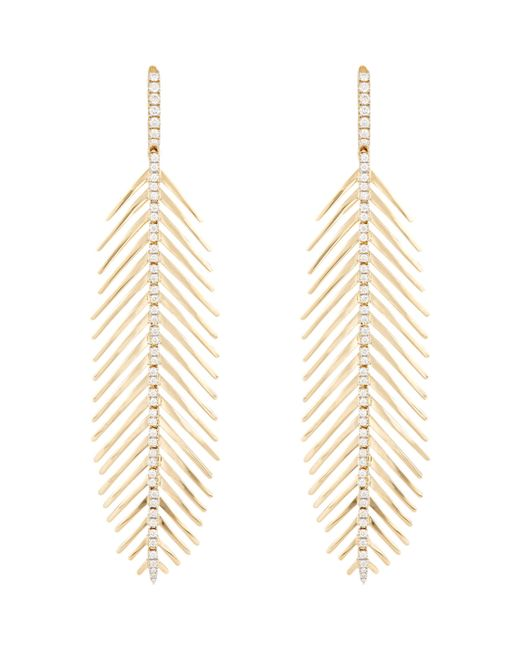 Sidney Garber   Metallic Women's Flexible Feather Earrings   Lyst