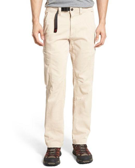 Model Armani Jeans Cargo Pant In Beige For Men  Lyst