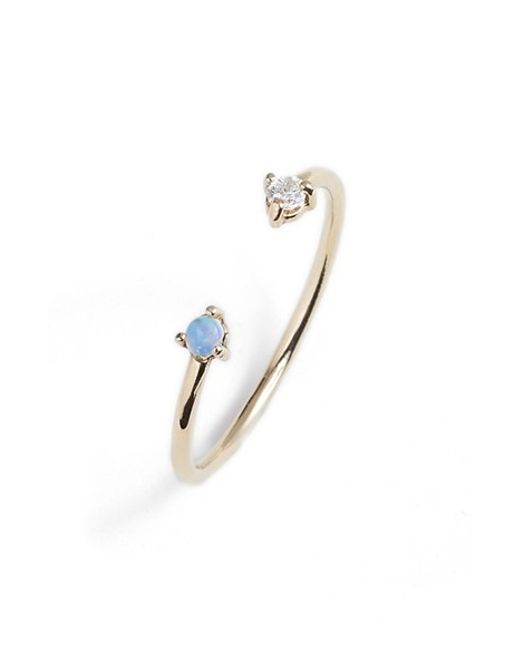 Wwake | Blue 'counting Collection - Two-step' Opal & Diamond Ring | Lyst
