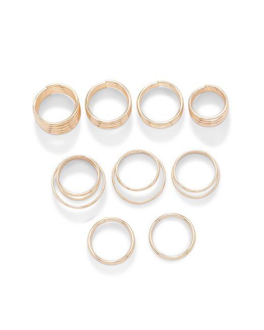 Forever 21 | Metallic Coil Ring Set | Lyst