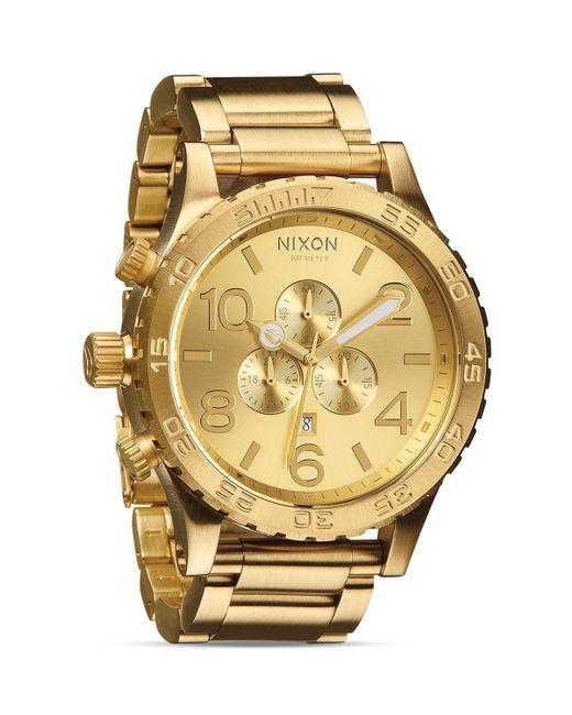 Nixon | Gold 51-30 Chronograph Watch, 51mm for Men | Lyst