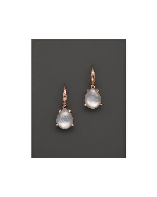 Ippolita | White Rock Candy Rose Single Pear Earrings | Lyst