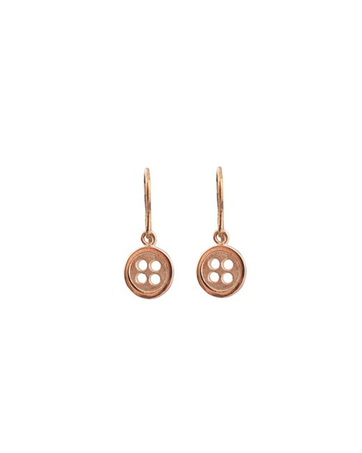 Edge Only   Metallic Button Drop Earrings Gold   Lyst