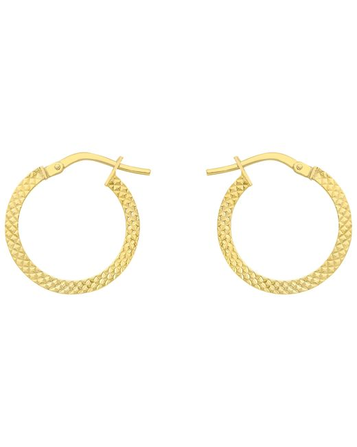 Ib&b | Metallic 9ct Gold Cobra Hoop Earrings | Lyst