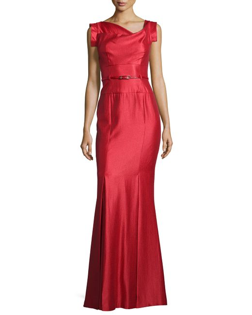 Black Halo | Red Asymmetric-neck Mermaid Gown | Lyst