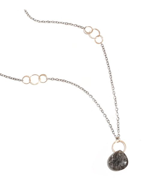 Melissa Joy Manning | Metallic Tourmalated Quartz Gold And Oxidized Silver Necklace | Lyst